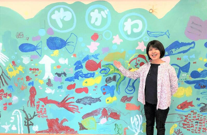 東京都国立市の小型児童館「矢川児童館」に勤務する向井真規子