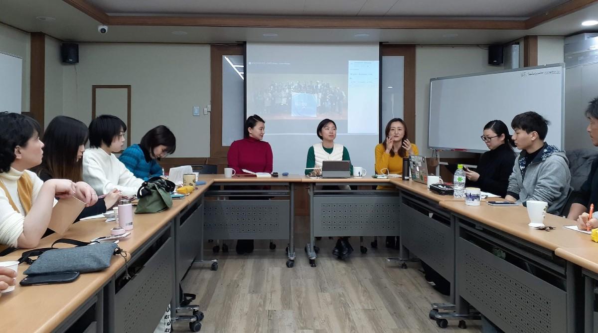 韓国の教育連帯体「CIATE」での講演の様子