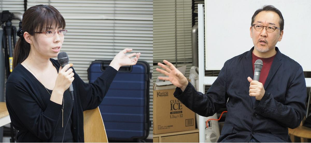 北本貴子さん(NPO法人日本ホームスクール支援協会・理事)、竹内薫さん(YES International School・学校長)