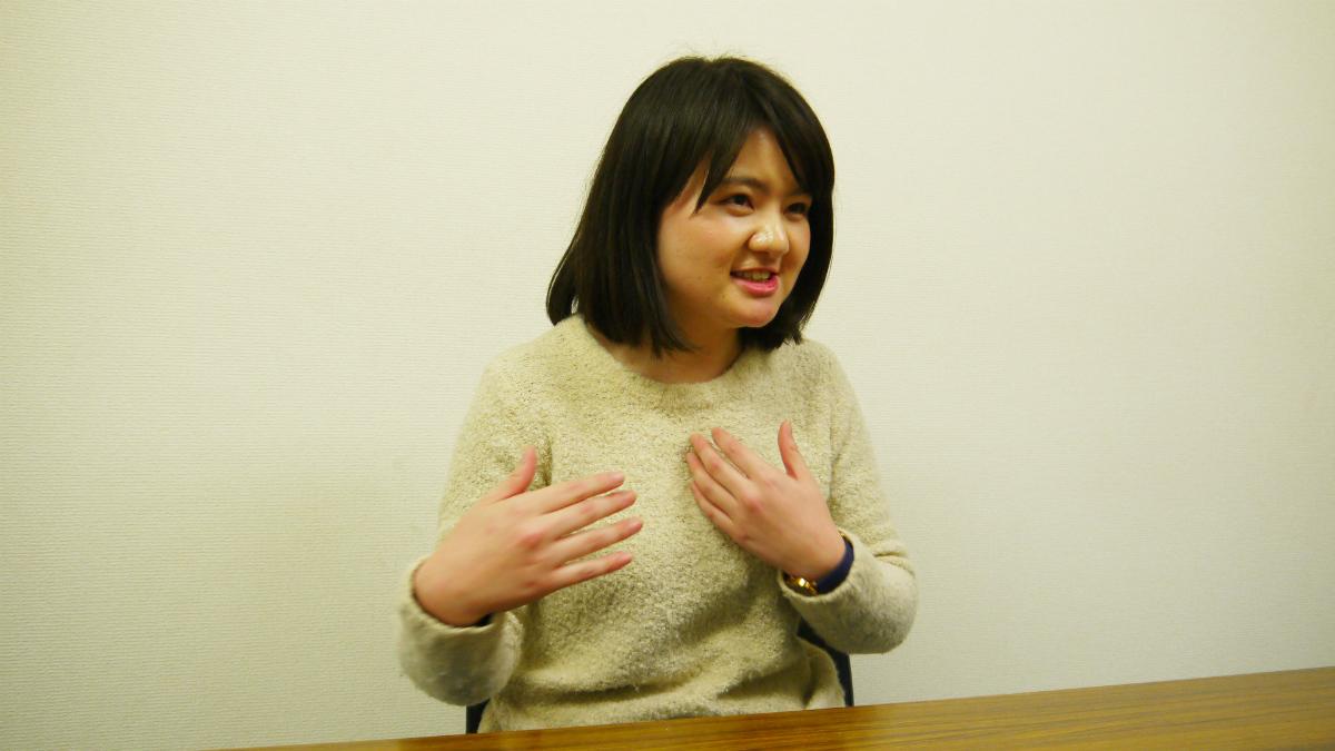 NPO法人夢職人で教育ボランティアに取り組んでいる後藤里奈さん