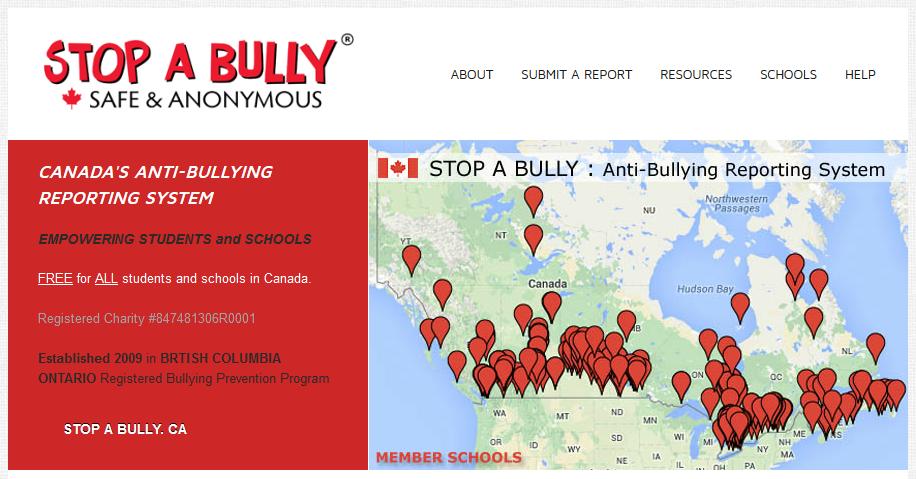 いじめを誰でも報告できるウェブサイト