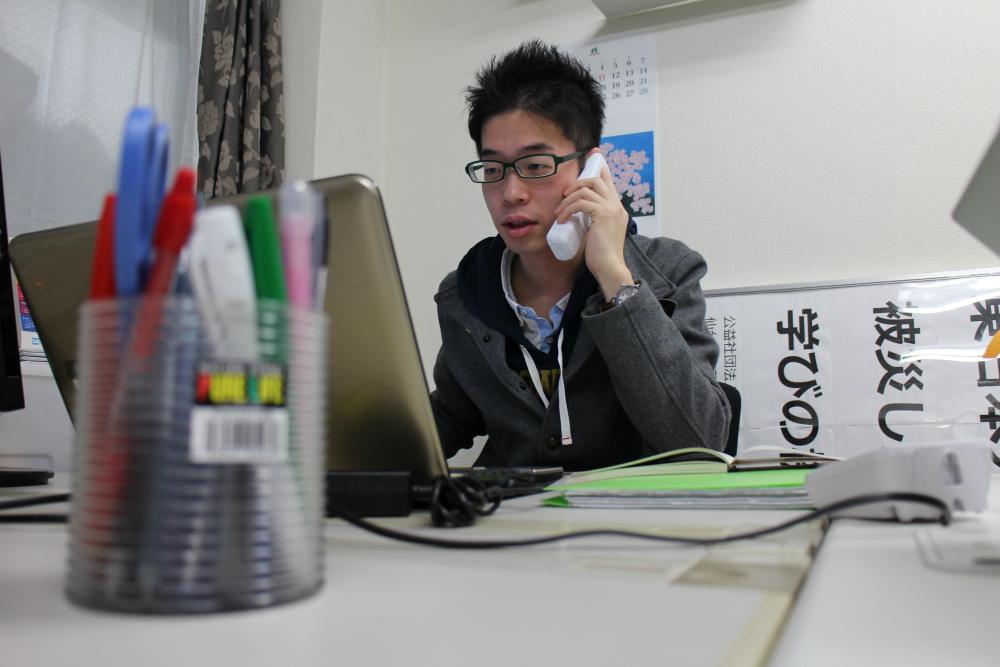 国内の子どもの貧困問題に取り組んでいるチャンス・フォー・チルドレンで働く久波孝典さん