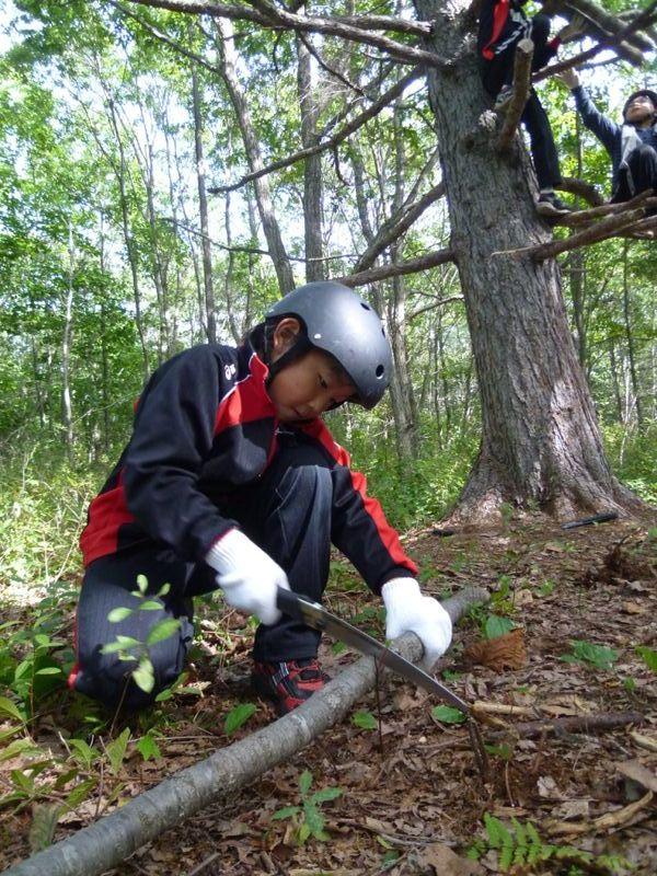 子どもサマーキャンプ:森での活動