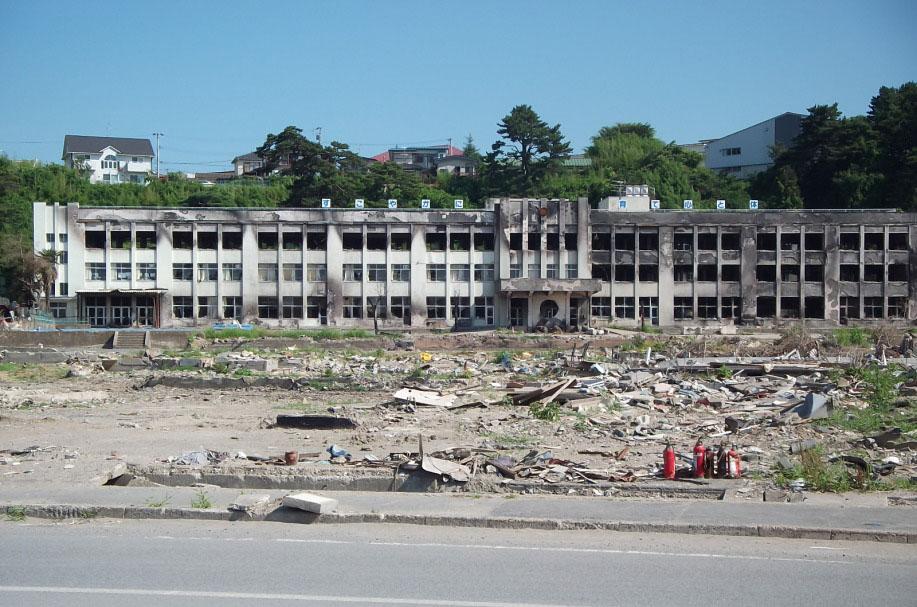 東日本大震災後の宮城県石巻市