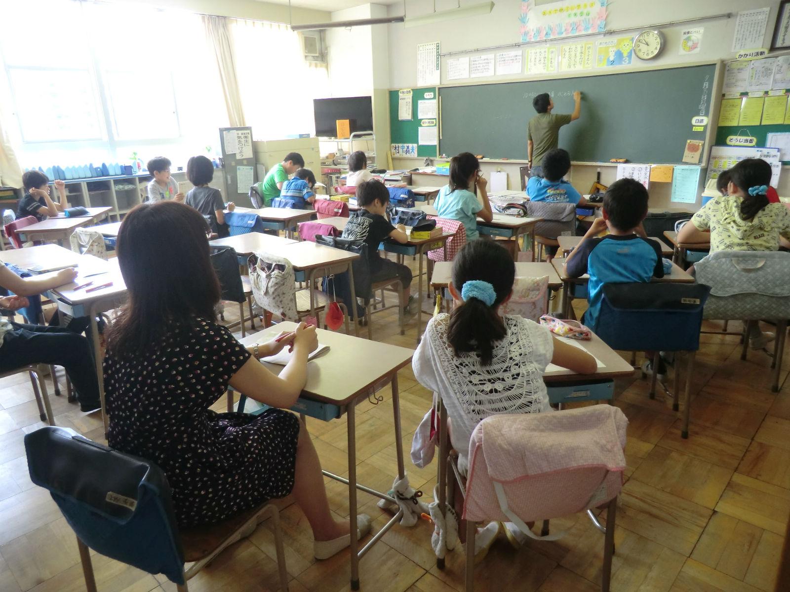 土曜日に学校で行われている土曜学習の様子