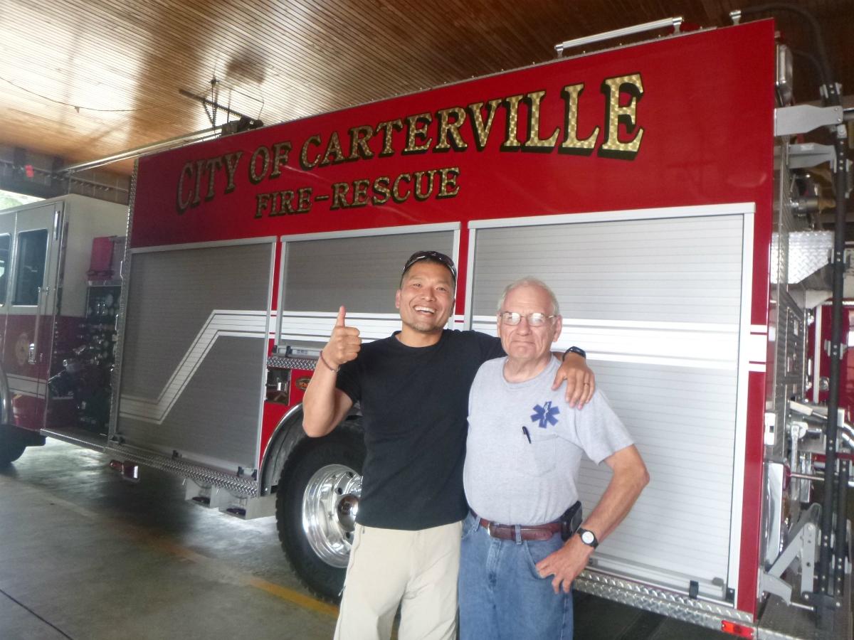 アメリカの消防士